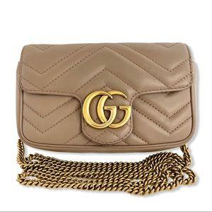 GUCCI Super Mini GG Marmont Bag